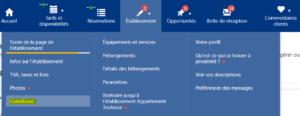 booking.com remise des clefs